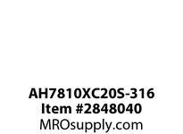 CPR-WDK AH7810XC20S-316 4X SW 316SSWT In TopNo OutSS Drain