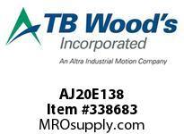 TBWOODS AJ20E138 AJ20-EX1 3/8 FF COUP HUB