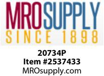 MRO 20734P 3/8 X 1/4 PLSTC P-IN RED ELBOW