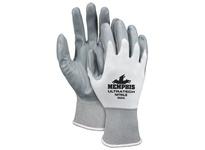 MCR 9683XS UltraTech 15 Gauge White Nylon Shell Gray Nitrile Dip Palm/Fingertips