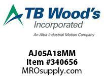 TBWOODS AJ05A18MM AJ05-AX18MM FF COUP HUB