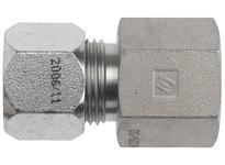 """DIXON FLC2405-05-02 5/16"""" Male Tube OD x 1/8"""" FNPTF Steel Adapter Flareless Bite Ftg"""