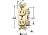 HBL-WDK HBL5362I DUP RCPT HD IND GRD 20A125V 5-20R IV