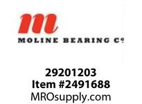 Moline Bearing 29201203 UCFLX11-35 2-3/16 MED DUTY 2-BOLT BALL BEARING
