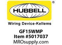 HBL_WDK GF15WMP 15A RESI GFR WHITE MID PL