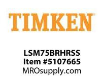 TIMKEN LSM75BRHRSS Split CRB Housed Unit Assembly
