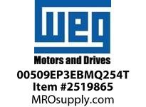 WEG 00509EP3EBMQ254T 5HP 900 3 60 230/460V Brake Motor