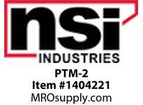 NSI PTM-2 PUSH TIE MOUNT SLOT WIDTH .20^