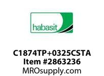 "Habasit C1874TP+0325CSTA 1874 Tab 3.25"" Top Plate Carbon Steel"
