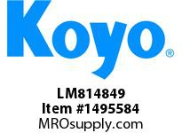 Koyo Bearing LM814849 TAPERED ROLLER BEARING