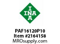INA PAF16120P10 Flanged plain bearing