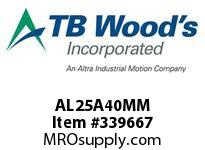 TBWOODS AL25A40MM AL25 LOCKING HUB 40MM BORE