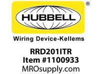 HBL-WDK RRD201ITR RESI SGL RCPT 20A 125V DEC TR IV