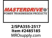 MasterDrive 2/SPA355-2517 2 GROOVE SPA SHEAVE