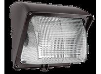 RAB WP1GSN100/PC WALLPACK 100W HPS 120V NPF GLASS LENS LAMP + 120V PC BRONZE