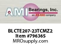 AMI BLCTE207-23TCMZ2 1-7/16 ZINC NARROW SET SCREW TEFLON FLANGE SINGLE ROW BALL BEARING