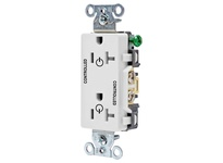 HBL_WDK DR20C2WHI 2/2 CONTROLLED 20A 125V B/S DECO WH