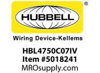 HBL_WDK HBL4750C07IV RACEWAY 7^ COVER HBL4750 SER IV