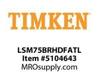 TIMKEN LSM75BRHDFATL Split CRB Housed Unit Assembly