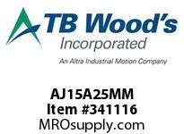 TBWOODS AJ15A25MM AJ15-AX25MM FF COUP HUB