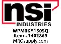 NSI WPMRKY150SQ MED SEMI-CUTOFF VANDAL RESISTANT WALLPACK 150 WATT HPS QUAD