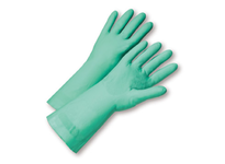 West Chester 52N102/9 22 mil Unlined Green Nitrile 18^ length Individually Packaged - Premium Posi Grip - Large