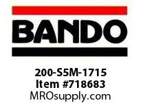 Bando 200-S5M-1715 SYNCHRO-LINK STS TIMING BELT NUMBER OF TEETH: 343 WIDTH: 20 MILLIMETER