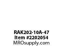 PTI RAK202-10A-47 PILLOW BLOCK BEARING-5/8 RAK 200 SILVER SERIES - NORMAL DUTY