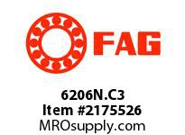 FAG 6206N.C3 RADIAL DEEP GROOVE BALL BEARINGS