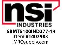 NSI SBMT5100IND277-14 SHOEBOX MED TYPE V REFLECTOR 100W INDUCTION 277V 14^ ARM