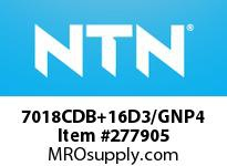 NTN 7018CDB+16D3/GNP4 PRECISION BALL BRG