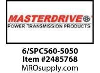 MasterDrive 6/SPC560-5050 6 GROOVE SPC SHEAVE