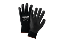 West Chester 715SNFB/L Black Foam Nitrile Palm Coat on Black 15 Gauge Nylon Liner Antibacterial & Silicone-Free. EN 3132