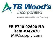 TBWOODS FR-F740-02600-NA INVERTER VT 200HP/SLP-175/LD