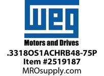 WEG .3318OS1ACHRB48-75P 1/3HP 1800 1/60/115V 75PP Nema 56 ODP