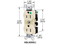 HBL-WDK HBL8300ILGY DUP RCPT HG 20A 125V 5-20R IL GY