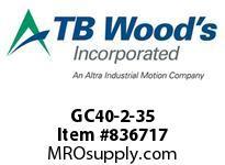 TBWOODS GC40-2-35 SPY GC40-35 L=3.58 DUCTILE