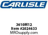 Carlisle 3610M12 Vee Rib M Carlisle