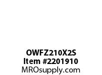 PTI OWFZ210X2S 2-BOLT PILOTED FLANGE BEARING-2 OWFZ 200 GOLD SERIES - NORMAL DUTY