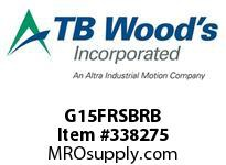TBWOODS G15FRSBRB 1 1/2FX3/8 RB RIGID HUB