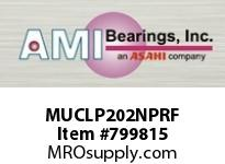 AMI MUCLP202NPRF 15MM STAINLESS SET SCREW RF NICKEL BLOCK SINGLE ROW BALL BEARING