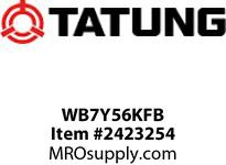 Tatung WB7Y56KFB 7.5 HP 1200 RPM 254T FRAME Standard Non E-Pact 10.7 F/L AMPS 8 ODP Kilm Duty Foot Mounted 60hz 460