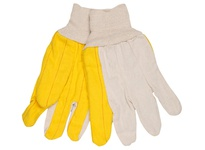 MCR 8516 Golden Chore Quilted Palm Regular Weight Canvas Back White Knit Wrist
