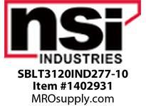 NSI SBLT3120IND277-10 SHOEBOX LG TYPE 3 REFLECTOR 120W INDUCTION 277V 10^ ARM