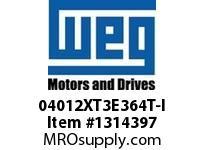 WEG 04012XT3E364T-I 40HP 1200 60 208-230/460 XP - Nema Pr