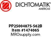 Dichtomatik PP25004875-562B SYMMETRICAL SEAL POLYURETHANE 92 DURO WITH NBR 70 O-RING DEEP BEVELED LOADED U-CUP INCH