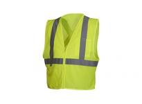 Pyramex RCZ2110M Hi-Vis Lime Vest with Reflective Tape - Size Medium