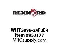 REXNORD WHT5998-24F3E4 WHT5998-24 F3 T4P WHT5998 24 INCH WIDE MATTOP CHAIN W