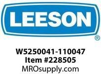 LEESON W5250041-110047 GEAR + MOTOR 811LB/IN @38RPM 3/4HP