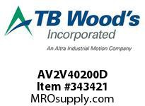 TBWOODS AV2V40200D 20HP 460V 3PH AQUAVAR II CT